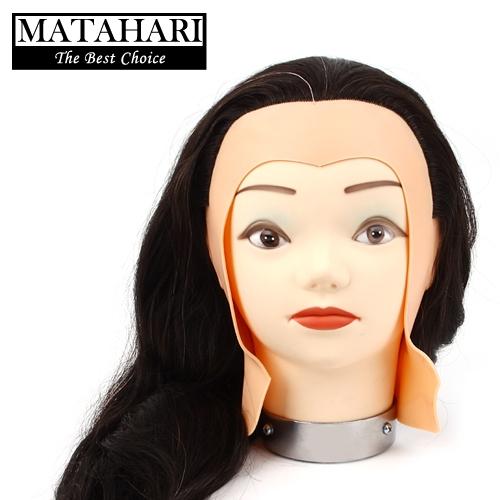 마타하리 연습용 100% 인모 캡 가발