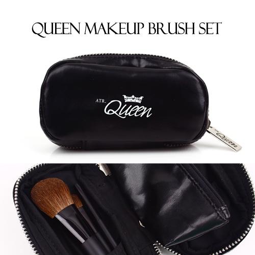 [퀸] 퀸 메이크업 브러쉬 3종 파우치 세트