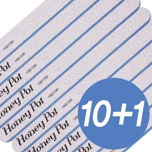 (10+1)[허니팟] 허니팟 지브라 네일 화일 100/100그릿 10종세트