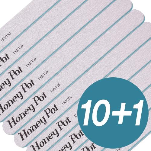 (10+1)[허니팟] 허니팟 지브라 네일 화일 150/150그릿 10종세트