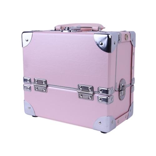 [사라센] [네일 박스/메이크업 박스] 핑크 박스_2단(소)