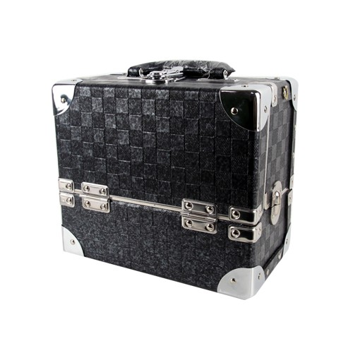 [사라센] [네일 박스/메이크업 박스] 2단박스 블랙(소)
