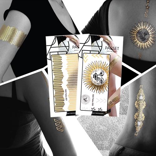 [파셋] 파셋(PASSET) 바디 골드&실버 타투 12종 - Body Gold & Silver TATTOO