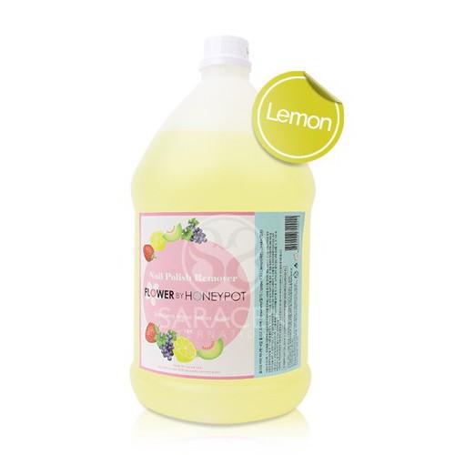 [플라워바이허니팟] 네일 폴리쉬 리무버 4000ml 레몬
