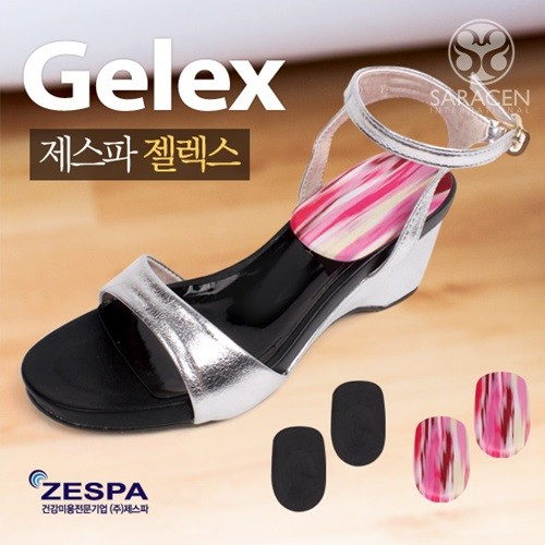 [제스파] 젤렉스 뒤꿈치용_밀착형 ZI106(블랙/핑크)
