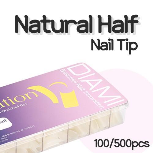 [다이아미] 네추럴 하프 팁 100tips