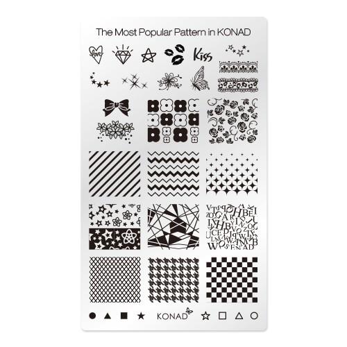 [코나드] 스퀘어 이미지 플레이트 - The Most Popular Pattern in KONA