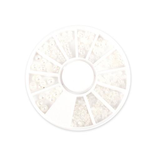 [단미] 화이트 진주 반구