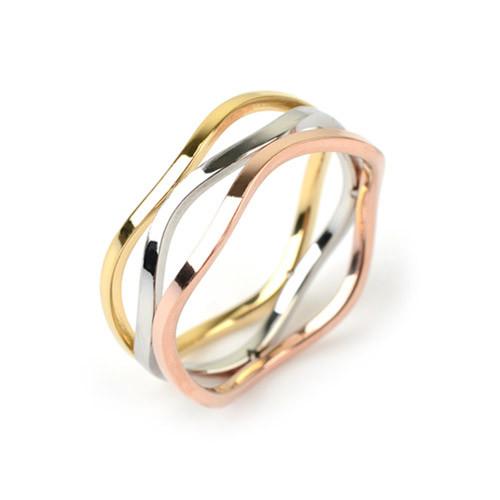 [글로리 아덴] 삼색컬러 반지 / GBSR-016