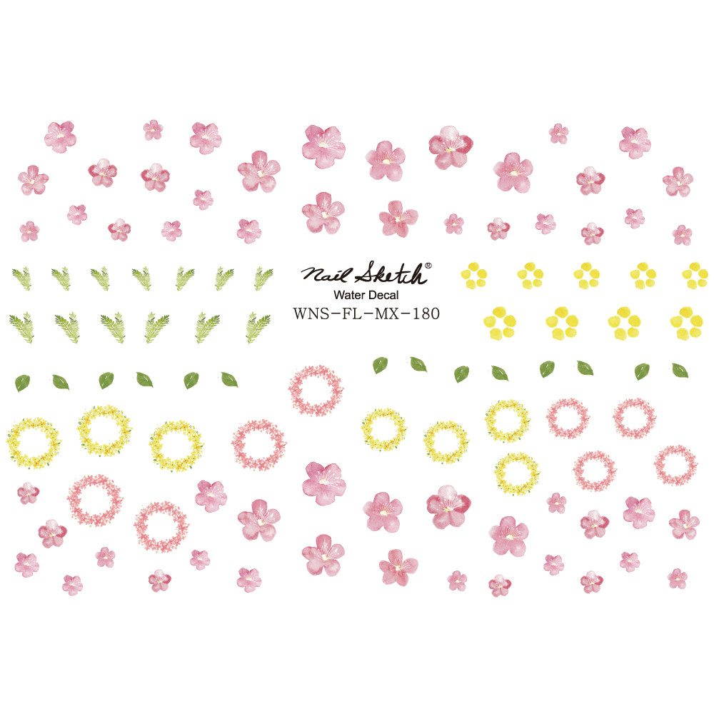 [네일스케치] 워터데칼 스티커 180-수채화벚꽃