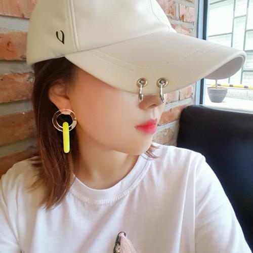 [러브미러브미] 형광 체인 링귀걸이